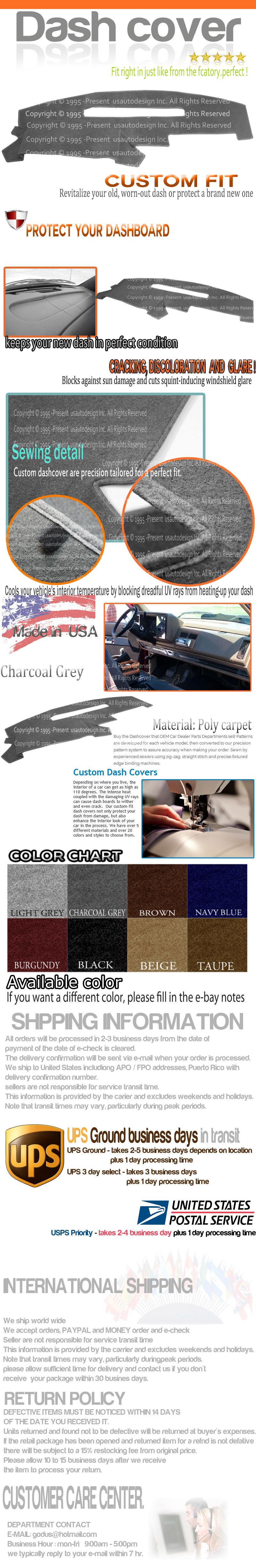 Fits 1991 1992 1993 1994 Gmc Sierra Dash Cover Mat