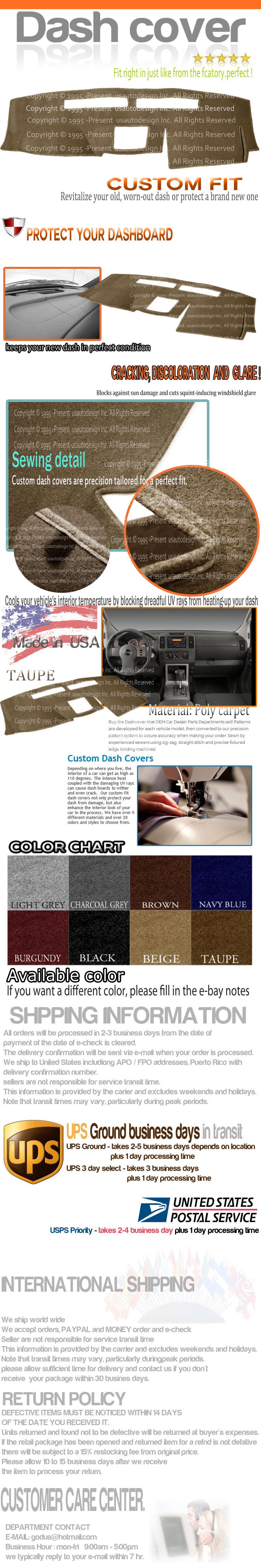 For Nissan Pathfinder 05-12 Dash-Topper Sedona Suede Black Dash Cover